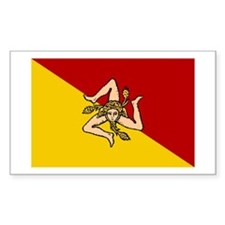 Sicilian Flag Rectangle Bumper Stickers