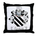 Sacchetti Family Crest Throw Pillow