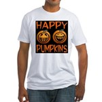 Happy Pumpkins Fitted T-Shirt
