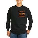 Happy Pumpkins Long Sleeve Dark T-Shirt