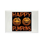 Happy Pumpkins Rectangle Magnet (10 pack)