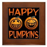 Happy Pumpkins Framed Tile