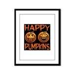 Happy Pumpkins Framed Panel Print