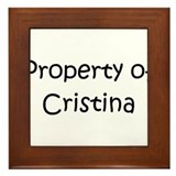 Unique Cristina Framed Tile