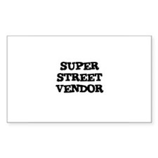 SUPER STREET VENDOR Rectangle Decal