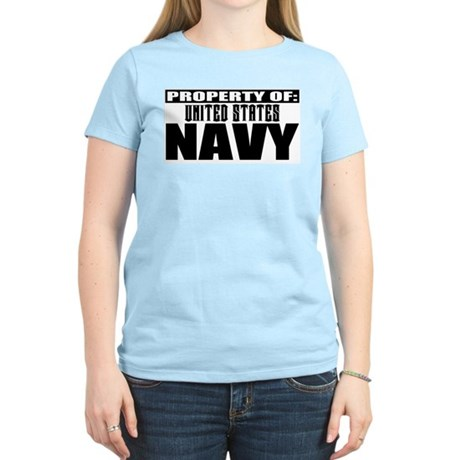 Property of US Navy Women's Pink T-Shirt
