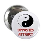 """OPPOSITES ATTRACT 2.25"""" Button (10 pack)"""