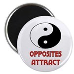"""OPPOSITES ATTRACT 2.25"""" Magnet (10 pack)"""