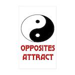 OPPOSITES ATTRACT Rectangle Sticker 10 pk)
