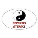 OPPOSITES ATTRACT Oval Sticker (50 pk)