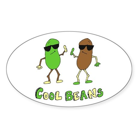 Cool Beans Oval Sticker