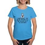 Funny Confucius slogan Women's Dark T-Shirt