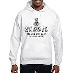 Funny Confucius slogan Hooded Sweatshirt