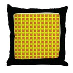 Yellow Latticework Throw Pillow