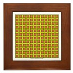 Yellow Latticework Framed Tile