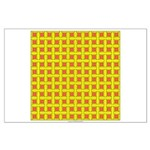 Yellow Latticework Large Poster