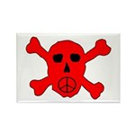 Peace Skull Rectangle Magnet