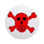 Peace Skull Ornament (Round)