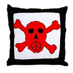 Peace Skull Throw Pillow
