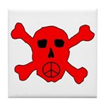 Peace Skull Tile Coaster