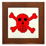 Peace Skull Framed Tile