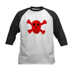 Peace Skull Kids Baseball Jersey