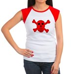 Peace Skull Women's Cap Sleeve T-Shirt