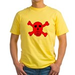 Peace Skull Yellow T-Shirt