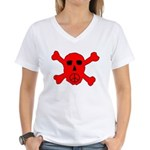 Peace Skull Women's V-Neck T-Shirt