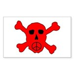 Peace Skull Rectangle Sticker
