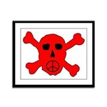 Peace Skull Framed Panel Print