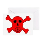 Peace Skull Greeting Card