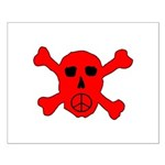 Peace Skull Small Poster