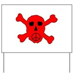 Peace Skull Yard Sign