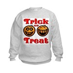 Trick or Treat Pumpkins Kids Sweatshirt