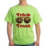 Trick or Treat Pumpkins Green T-Shirt