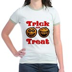 Trick or Treat Pumpkins Jr. Ringer T-Shirt