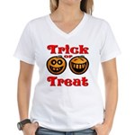 Trick or Treat Pumpkins Women's V-Neck T-Shirt