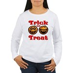 Trick or Treat Pumpkins Women's Long Sleeve T-Shir