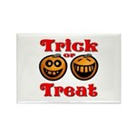 Trick or Treat Pumpkins Rectangle Magnet