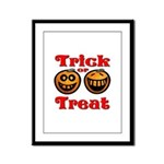 Trick or Treat Pumpkins Framed Panel Print