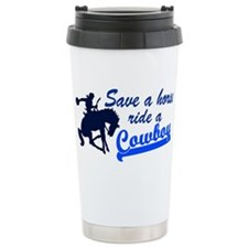 Cowboy Ceramic Travel Mug
