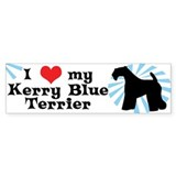 I Love my Kerry Blue Terrier Bumper Bumper Sticker