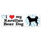 I Love my Karelian Bear Dog Bumper Car Sticker