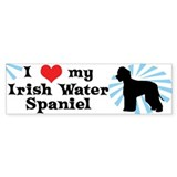 I Love my Irish Water Spaniel Bumper Bumper Sticker