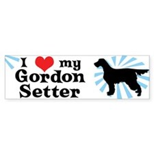I Love my Gordon Setter Bumper Bumper Sticker