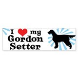 I Love my Gordon Setter Bumper Car Sticker