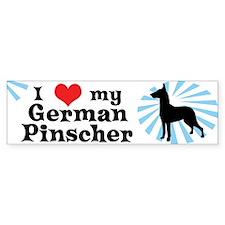 I Love my German Pinscher Bumper Bumper Sticker