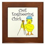 Civil Engineer Chick Framed Tile