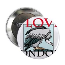 "I Love Condors 2.25"" Button (10 pack)"
